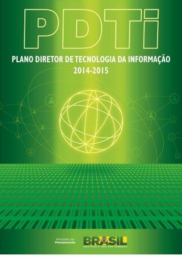 Plano Diretor de Tecnologia da Informação - Ministério do ...