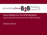 Social Media for the B2B Marketer - MarketingSherpa