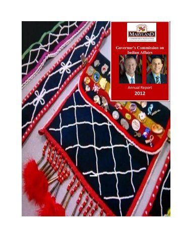 2012 maryland commission on indian affairs annual report