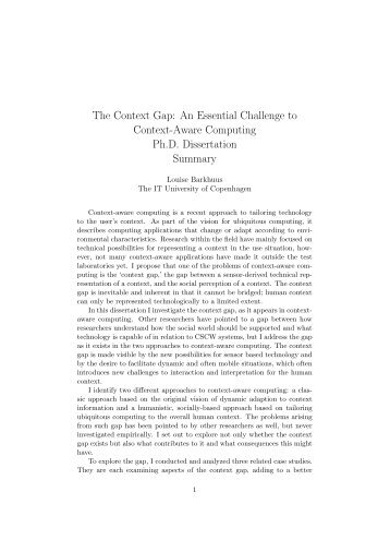 The Context Gap: An Essential Challenge to Context-Aware ...