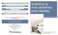 hospital & non-hospital dnr orders hospital & non-hospital dnr orders