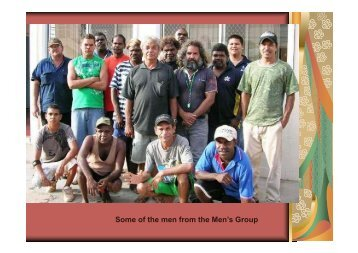 Some of the men from the Men's Group