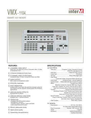InterM VMX-1104_4 channel AV Mixer