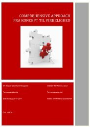COMPREHENSIVE APPROACH FRA KONCEPT TIL VIRKELIGHED