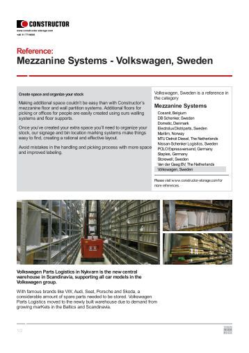Volkswagen, Sweden - Constructor Storage