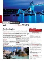London by plane - Verdié Voyages
