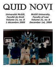 December 1, 2009 - Latest Issue - McGill University
