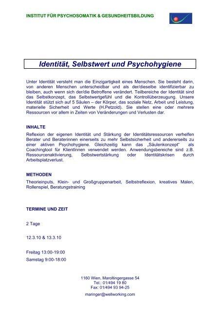 Säulen die selbstwertgefühls 6 pdf des Die 6