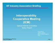 Sub-committee report- Global Interoperability using STANAG ... - HFIA