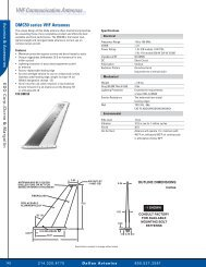VHF Communication Antennas VHF ... - Dallas Avionics
