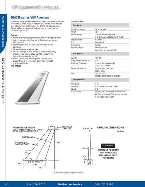 VHF Communication Antennas VHF ... - Dallas Avionics