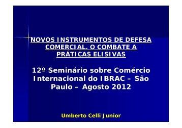 12º Seminário sobre Comércio Internacional do IBRAC – São Paulo ...