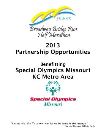 2013 Broadway Bridge Run Sponsor Packet
