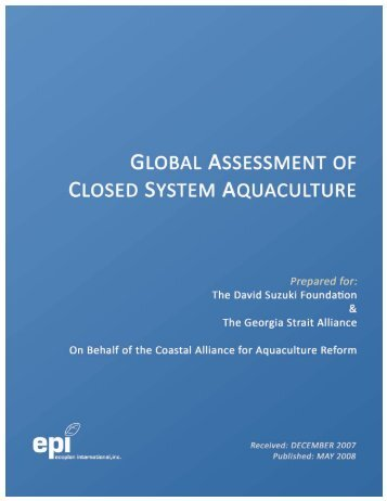 Global Assessment of Closed System Aquaculture (PDF)