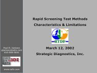 Rapid Screening Test Methods Rapid Screening Test Methods ...