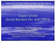 Digital Divide Social Barriers On- and Offline - KIB