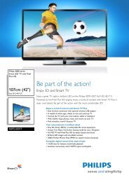 42PFL4307T/12 Philips Smart LED TV with Pixel Plus HD