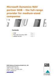 Microsoft Dynamics NAV partner GOB – the full-range provider for ...