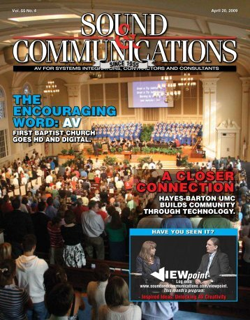Sound & Communications April 20, 2009 Issue