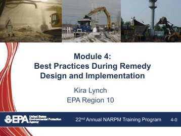 Module 4: Best Practices During Remedy Design and Implementation