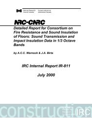 Detailed Report for Consortium on Fire Resistance and Sound ...