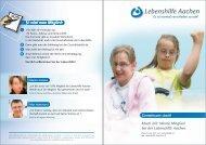 Lebenshilfe Aachen - Gossen Kommunikation
