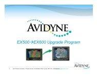 EX500→EX600 Upgrade Program - Avidyne