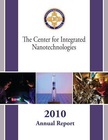 CINT Annual Report - Center for Integrated Nanotechnologies - Los ...