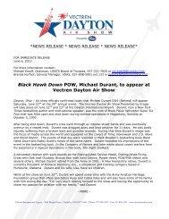 Black Hawk Down POW, Michael Durant, to ... - Dayton Air Show