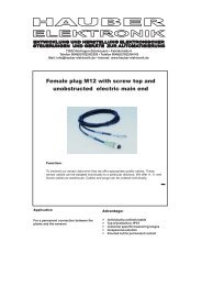 Female plug M12 with screw top and ... - Hauber-Elektronik GmbH