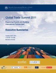 Global Trade Summit 2011 - BullsEye Resources