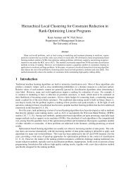 Hierarchical Local Clustering for Constraint Reduction in Rank ...