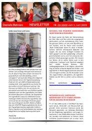 Newsletter 06-2009 - Daniela Behrens