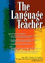 Special Issue: Vocabulary - JALT Publications