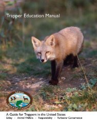 Trapper Education Manual - Arkansas Game and Fish Commission