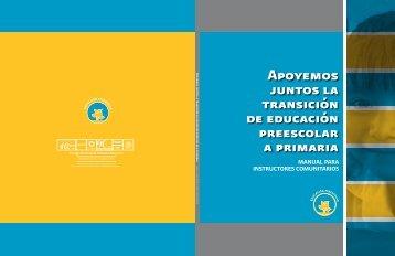 Apoyemos juntos la transición de educación preescolar a ... - Conafe