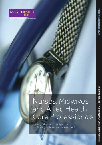 Nurses, Midwives and Allied Health Care Professionals - School of ...