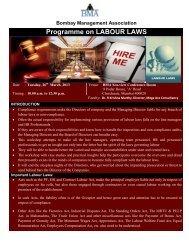 Programme on LABOUR LAWS - Bombay Management Association