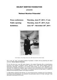 Press release_ ´Helmut Newton Polaroids ... - Nadine Dinter PR