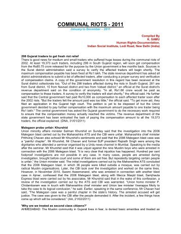 Communal Riots-2011.pdf - Indian Social Institute