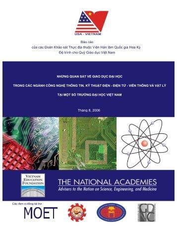 Những quan sát về giáo dục đại học - Vietnam Education Foundation