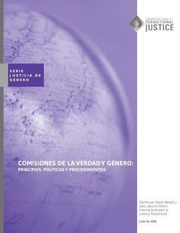 comisiones de la verdad y género - International Center for ...