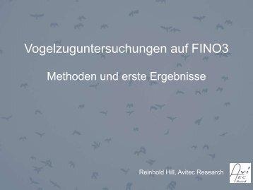 Ergebnisse und Methoden zur Vogelzuguntersuchungen auf FINO3