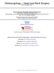 Otolaryngology -- Head and Neck Surgery - Sociedade Brasileira de ...