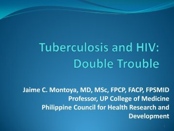 9.45 DR. JAIME MONTOYA TB and HIV Double Trouble - Philippine ...