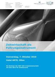 Zeitwirtschaft als Führungsinstrument - Zeit AG