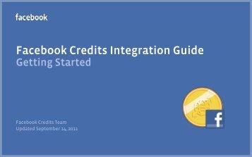 Facebook Credits Integration Guide