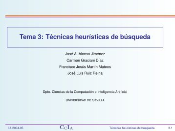 Tema 3 - Dpto. Ciencias de la Computación e Inteligencia Artificial.