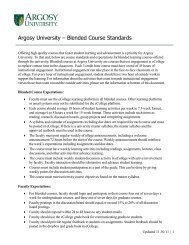 Argosy University – Blended Course Standards