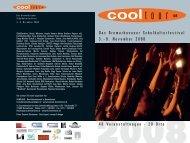 cooltour 08 - das Kulturnetzwerk in Bremerhaven